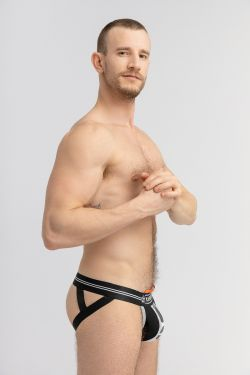 Camo Stripe Jockstrap with Inner Lifter Strap