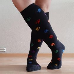 Rainbow Paw Socks - With Zipped Pockets!